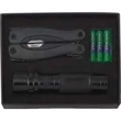 "Flashlight/Tool Combination Set - Three AAA batteries, a 14 LED flashlight that's 5"" long and a full-sized multi-tool that measures 4"" when closed in a gift box"