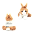 "8"" Dutch Tri-Color Bunny with T-Shirt and One Color Imprint - 8"" Tri-Color Bunny with T-Shirt and Imprint"