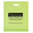 "Frosted Plastic Die Cut Bag - Foil Stamp - Frosted Die Cut Plastic Bag (12""x15""x3"") - Foil Stamp"