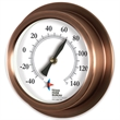 "Replica Porthole Thermometer - Replica porthole thermometer with black hand, 9"" diameter."