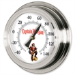 "Replica Porthole Wall Thermometer - Replica porthole wall thermometer with black hand, 9"" diameter."