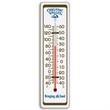 "Indoor / Outdoor Thermometer - Indoor/outdoor thermometer made from aluminum, 3.125"" W x 11.5"" H."