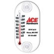 "Indoor / Outdoor Window Thermometer - Indoor/outdoor window thermometer with two vinyl suction cups, 4"" x 2""."