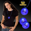 """Blue 2"""" Lighted Badges with attached J-Hook medallion - 2"""" lighted badges with attached J-Hook medallion."""