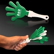 "Green White & Green Hand Clapper - 7"" green-white-green colored hand clapper noisemaker."