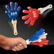 "Red White & Blue Hand Clapper - 7"" red-white-blue, high-quality hand clappers"