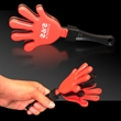 "Red Black & Red Hand Clapper - 7"" red-black-red, high-quality hand clappers"