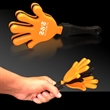 "Orange Black & Orange Hand Clapper - 7"" orange-black-orange, high-quality hand clappers"