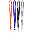 Polyester Full Color sublimated lanyard w/ Safety Breakaway