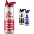 "24 oz. BPA Free Water Bottle - 2 7/8""  x 9 1/4"" 24-ounce Tritan sport water bottle with accent grip, pull-out spout, and build in handle. BPA free."