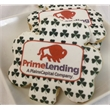 "3.5"" Shamrock Logo Sugar Cookie - Shamrock Shaped Logo Cookie; imprint with any logo for personalized cookie favor. Each cookie individually wrapped."