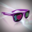 80's Novelty Sunglasses - Our totally 80's party sunglasses are perfect for milestone events! Imprintable on the arm and feature pinhole decals.