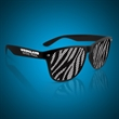 Zebra Print Novelty Sunglasses - Our retro black and white Zebra Print Novelty Sunglasses are perfect for 80's and 90's parties!