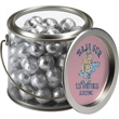 Clear Candy Container - Clear paint can shaped candy container with handle and your choice of fill.