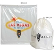 """Cotton Drawstring Bag - 12"""" x 16"""" cotton drawstring bag with spot-color print and a reinforced bottom."""