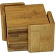 "6 Piece Square Bamboo Coaster Set - 6 Piece Square Bamboo Coaster Set.  Size:  3 3/4"" (Each Coaster)."
