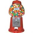 "15"" H Red King Gumball Machine - Red 15"" king gumball machine (empty)."