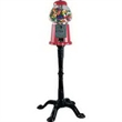 King Gumball Machine with Floor Stand - Red king gumball machine with floor stand.