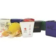 Carry-Out Container with 2 Cookies - Two fortune cookies in 1/2 pint white carry-out container.