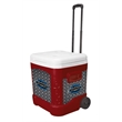 Igloo Ice Cube 60 Roller (Diablo Red) - 60 quarts, 90 cans capacity roller cooler.