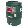 Igloo Industrial 10 Gallon Beverage Cooler - Industrial 10 Gallon Jug Beverage Cooler Hunter Green. Great for outdoors, sports, golf, and job sites.