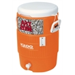 Industrial 5 Gallon Beverage Cooler - Industrial 5 Gallon Jug Beverage Cooler Orange/White. Great for outdoors, sports, golf, and job sites.