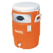 Industrial 10 Gallon Beverage Cooler - Industrial 10 Gallon Jug Beverage Cooler orange/white. Great for outdoors, sports, golf, and job sites.