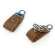 64GB Leather USB Flash Drive With Key Ring - 32GB USB 2.0 flash drive made from leather and metal with key ring.