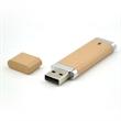 Biodegradable Rectangle USB Drive w/ Silver Trim