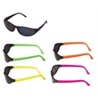 Sunglasses - Sunglasses with neon colored temples and super dark lenses