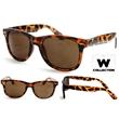 Tortoise Shell Sunglasses - Classic blues brothers style tortoise shell polished frame, UV lens.