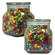Large Apothecary Jar with Chocolate Littles -  Glass Jar