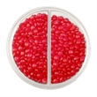 Acrylic Full Moon Container with Cinnamon Red Hot Candy