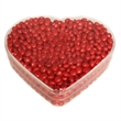 Acrylic Heart Show Piece with Cinnamon Red Hot Candy