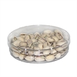 Large Round Acrylic Show Piece Container w/ Pistachio Nuts