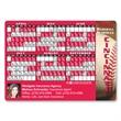 Baseball sports schedule magnet