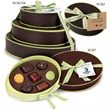 Food Gift Belgian Chocolate Sublime 3-tier Tower - Sublime Truffle tower filled with 12 Belgian chocolate candy truffles.