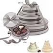 Cirque 3-Tier Belgian Chocolate Truffle Tower - Handmade Chocolate Truffles in Elegant Round Boxes & Custom Hotstamp