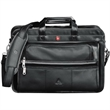 Wenger (R) Leather Double Compartment Attache