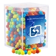 "Mini Jawbreakers Candy in a Clear Acrylic Square Box - Mini Jawbreakers Candy in a Clear Acrylic Box- 2.25"" x 2.25"" x 3"""