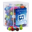 Sixlets Candy in a Clear Acrylic Square Box