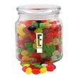 Jelly Beans Candy in a Glass Jar with Lid