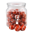 Chocolate Footballs in a Glass Jar with Lid - Chocolate Footballs in a Glass apothecary Jar with Lid
