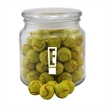 Chocolate Tennis Balls in a Glass Jar with Lid