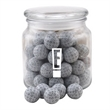 Chocolate Golf Balls in a Glass Jar with Lid