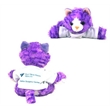 """8"""" Purple Molly Tabby Cat with T-shirt and one color imprint"""