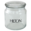 Empty 16 oz Glass apothecary Jar with Lid