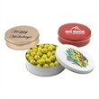 """Chocolate Tennis Balls in a Round Tin with Lid-6"""" D"""