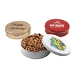 """Mini Pretzels in a Round Tin with Lid-6"""" D"""