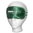Forest Satin Sleep Mask - Forest green satin sleep mask with  imprint area, and imprint or label options on storage bag.